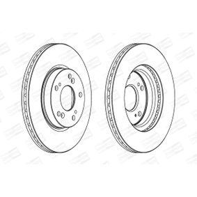 Brake Disc Brake Disc Thickness: 23mm, Num. of holes: 5, Ø: 282mm, Ø: 282mm with OEM Number 45251-TA0-A01