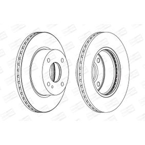 Brake Disc Brake Disc Thickness: 23mm, Num. of holes: 4, Ø: 258mm with OEM Number 1892667