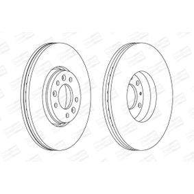 Brake Disc Brake Disc Thickness: 28mm, Num. of holes: 5, Ø: 304mm with OEM Number 16 188 651 80