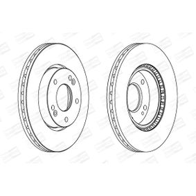 Brake Disc Brake Disc Thickness: 26mm, Num. of holes: 5, Ø: 280mm with OEM Number 517122C700