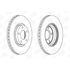 Brake Disc Brake Disc Thickness: 25mm, Num. of holes: 5, Ø: 300mm with OEM Number C26Y3-325XD