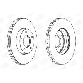 Brake Disc Brake Disc Thickness: 25mm, Num. of holes: 5, Ø: 278mm with OEM Number C24Y-33-25XC-9A