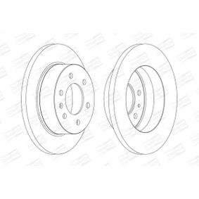Bremsscheibe Bremsscheibendicke: 16mm, Lochanzahl: 6, Ø: 298mm mit OEM-Nummer 910 423 00 00