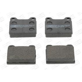 Bremsbelagsatz, Scheibenbremse Breite: 56mm, Dicke/Stärke: 15mm mit OEM-Nummer 310254042
