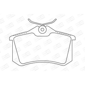 Bremsbelagsatz, Scheibenbremse Breite: 53mm, Dicke/Stärke: 17mm mit OEM-Nummer 86 71 016 188