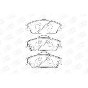 Bremsbelagsatz, Scheibenbremse Breite: 49mm, Dicke/Stärke 1: 15,5mm, Dicke/Stärke: 15,9mm mit OEM-Nummer 58101-1CA10