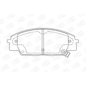 Brake Pad Set, disc brake Width: 52mm, Thickness: 16,6mm with OEM Number 45022-S2A-E50