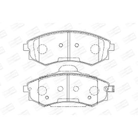 Bremsbelagsatz, Scheibenbremse Breite: 53mm, Dicke/Stärke: 17,6mm mit OEM-Nummer 58101-29A80