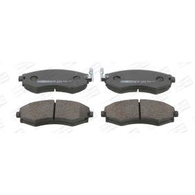 Bremsbelagsatz, Scheibenbremse Breite: 54mm, Dicke/Stärke: 17mm mit OEM-Nummer 5810129A80