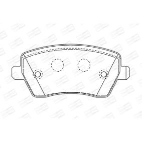 Brake Pad Set, disc brake Width: 52mm, Thickness: 16,8mm with OEM Number 4701305