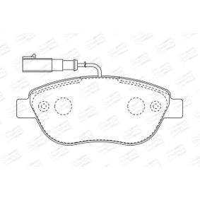 Bremsbelagsatz, Scheibenbremse Breite: 57mm, Dicke/Stärke: 18,4mm mit OEM-Nummer 71770118