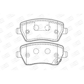 Brake Pad Set, disc brake Width: 52mm, Thickness: 16,7mm with OEM Number 4 701 305