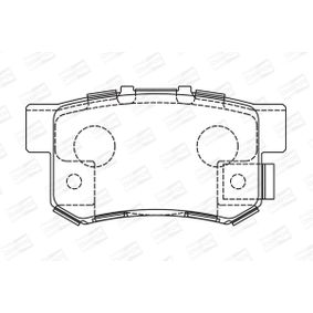 Brake Pad Set, disc brake Width: 48mm, Thickness: 15,2mm with OEM Number 43022SX0A52
