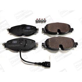 Kit de plaquettes de frein, frein à disque Largeur: 64,6mm, Épaisseur: 20,2mm avec OEM numéro 5Q0698151A