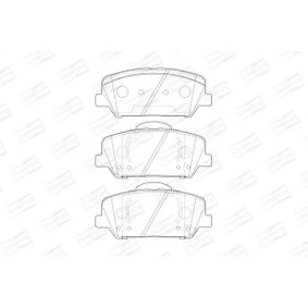 Bremsbelagsatz, Scheibenbremse Breite: 1mm, 60mm, Dicke/Stärke: 18,2mm mit OEM-Nummer 58101 2TA20