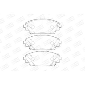 Brake Pad Set, disc brake Width: 55, 7mm, Thickness: 16mm with OEM Number BHY1-33-28ZA 9C