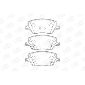 Bremsbelagsatz, Scheibenbremse Breite: 57mm, Dicke/Stärke: 18,4mm mit OEM-Nummer 7 736 762 8