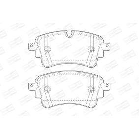 Brake Pad Set, disc brake Width: 59mm, Thickness: 17,5mm with OEM Number 8W0 698 451N