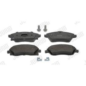 Bremsbelagsatz, Scheibenbremse Höhe 1: 51mm, Dicke/Stärke: 17mm mit OEM-Nummer 1605 964