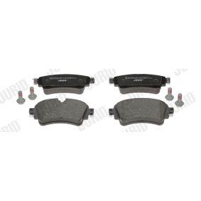 JURID  573628J Kit de plaquettes de frein, frein à disque Hauteur 1: 59mm, Épaisseur: 17,5mm