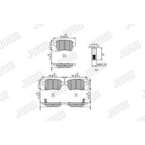 Bremsbelagsatz, Scheibenbremse Höhe 1: 48,1mm, Dicke/Stärke: 17mm mit OEM-Nummer 77367914