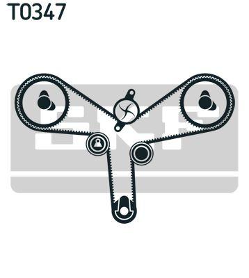 Water Pump + Timing Belt Kit SKF VKMC 91707 rating