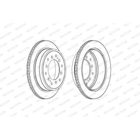 Disque de frein Épaisseur du disque de frein: 18mm, Nbre de trous: 6, Ø: 312mm avec OEM numéro 42431 60 190