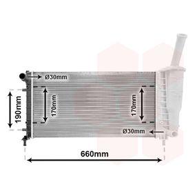 Radiator, engine cooling 17002290 PUNTO (188) 1.2 16V 80 MY 2002