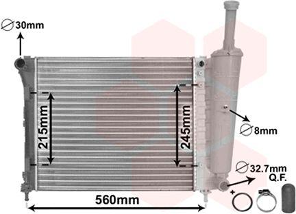 Wasserkühler 17002345 VAN WEZEL 17002345 in Original Qualität