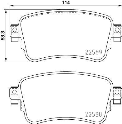 Комплект спирачно феродо, дискови спирачки P 61 133 BREMBO 22588 в оригиналното качество