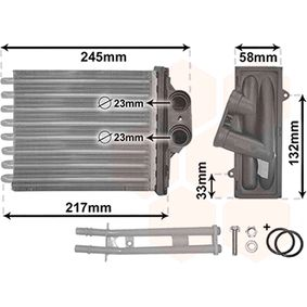 Heat Exchanger, interior heating 17006304 PANDA (169) 1.2 MY 2018