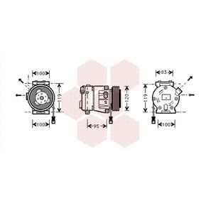 Compressor, air conditioning 1700K050 PUNTO (188) 1.2 16V 80 MY 2004