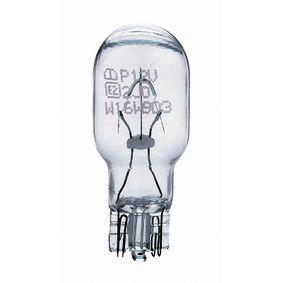 Bulb, indicator W16W, W2,1x9,5d, 12V, 16W 12067