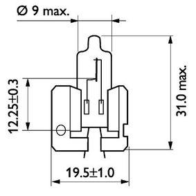 Крушка с нагреваема жичка, фар за дълги светлини H2, 55ват, 12волт 12311