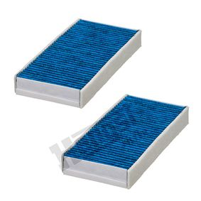 HENGST FILTER Blue.care E3950LB-2 Filter, Innenraumluft Länge: 232,0mm, Breite: 116,0mm, Höhe: 32,0mm