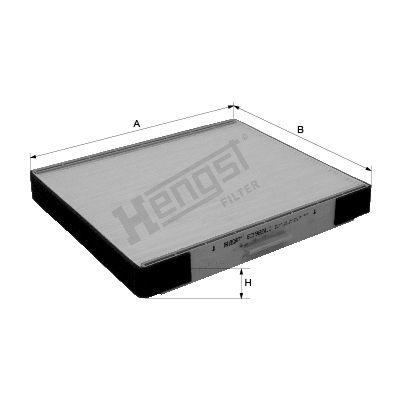 HENGST FILTER  E3985LI Filter, Innenraumluft Länge: 265mm, Breite: 223mm, Höhe: 30mm