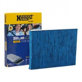 Filter, Innenraumluft Länge: 280,0mm, Breite: 206,5mm, Höhe: 25,0mm mit OEM-Nummer 8L0 091 800
