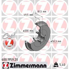 Bremstrommel Br.Tr.Durchmesser außen: 240mm mit OEM-Nummer 1H0 501 615A