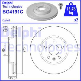 Bremsscheibe Bremsscheibendicke: 26mm, Lochanzahl: 5, Ø: 276mm mit OEM-Nummer 509 069