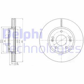 Brake Disc Brake Disc Thickness: 26mm, Ø: 280mm with OEM Number 51712 1H000