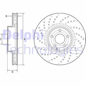 Bremsscheibe Bremsscheibendicke: 32mm, Lochanzahl: 5, Ø: 342mm mit OEM-Nummer A 231 421 10 12