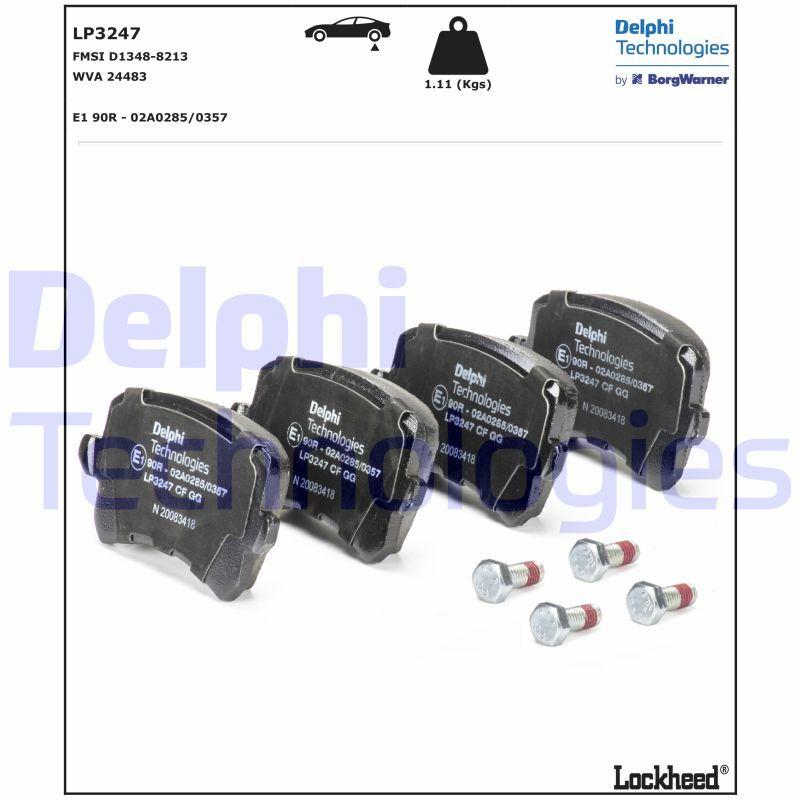 Bremsklötze DELPHI LP3247 5012759976333