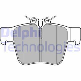 DELPHI  LP3277 Bremsbelagsatz, Scheibenbremse Höhe 2: 70mm, Höhe: 64mm, Dicke/Stärke 1: 16mm
