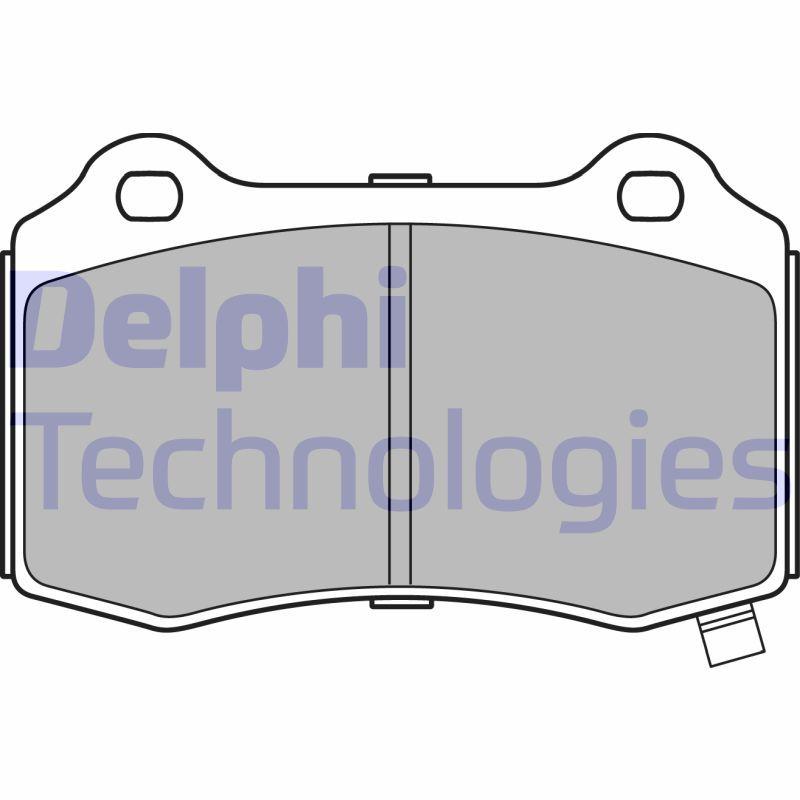 DELPHI  LP3281 Bremsbelagsatz, Scheibenbremse Höhe 2: 69mm, Höhe: 69mm, Dicke/Stärke 1: 15mm, Dicke/Stärke 2: 15mm