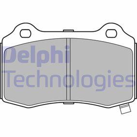 DELPHI  LP3281 Bremsbelagsatz, Scheibenbremse Höhe: 69mm, Dicke/Stärke 1: 15mm