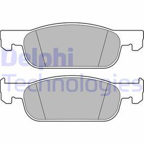 DELPHI  LP3286 Bremsbelagsatz, Scheibenbremse Höhe: 49mm, Dicke/Stärke 1: 17mm