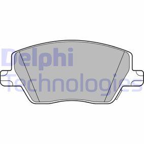 DELPHI  LP3289 Bremsbelagsatz, Scheibenbremse Höhe: 59mm, Dicke/Stärke 1: 19mm