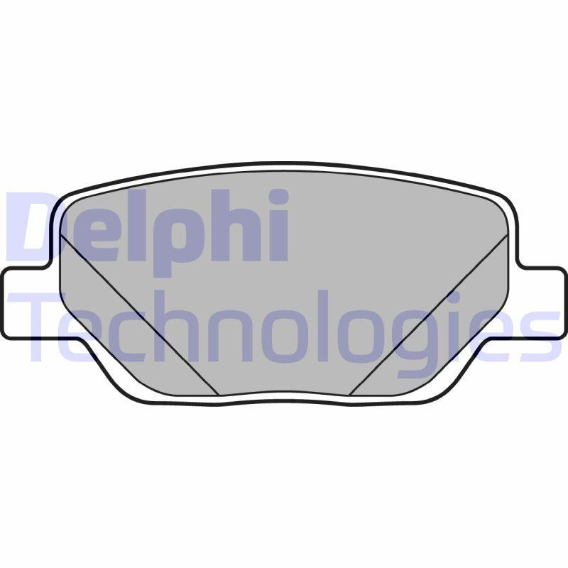 DELPHI  LP3290 Bremsbelagsatz, Scheibenbremse Höhe: 42mm, Dicke/Stärke 1: 18mm