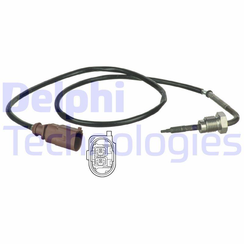 DELPHI  TS30037 Sensor, temp. gas escape Long. cable: 600mm