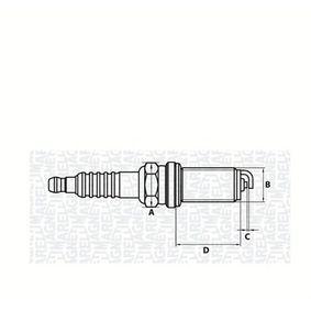MAGNETI MARELLI  062000777304 Zündkerze E.A.: 1mm, Gewindemaß: M14